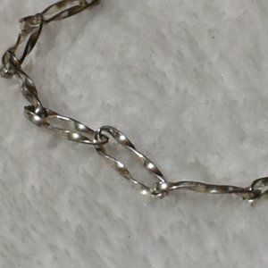 925SS  Sterling Silver Cuban Figaro Link Bracelet